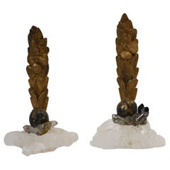 Pair of 18th Century Quartz Giltwood Fragments