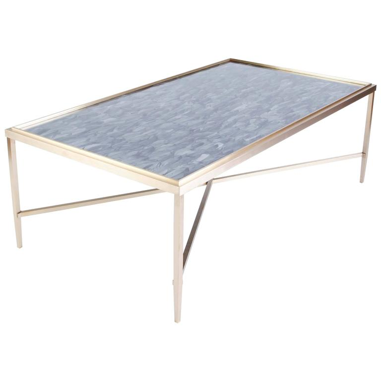 Daedalus Table by Lawton Mull, in Unlacquered Brass