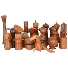 Collection of 25 Dansk Peppermills by Jens Quistgaard and Others Designers