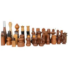 Grand Collection of 40 Peppermills and a Few Salts 'Some by Jen Quistgaard'