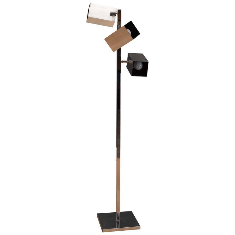 Vintage Koch and Lowy Chrome Floor Lamp