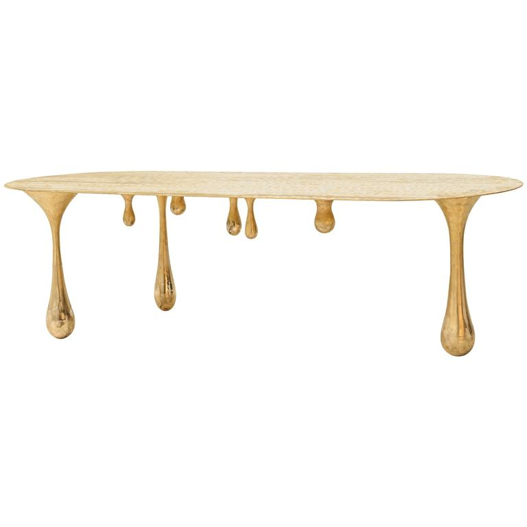 Melting Brass Coffee Table/Cocktail Table by Zhipeng Tan