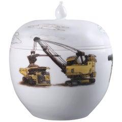 Kaolin Mines #4 Porcelain Bowl by Zhenhan Hao