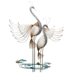 Wall Sculpture 'Herons' by Curtis Jere