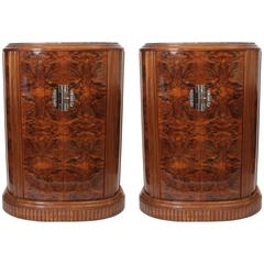 Exceptional and Important Pair of Art Deco Entrance Furniture