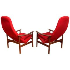 Pair of Lounge Chairs by Alf Svensson for Ljungs Industrier, Sweden