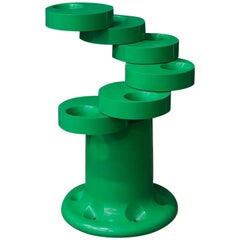 1972, G.C. Piretti for Anonima Castelli, Rare Green Pluvium Umbrella Stand