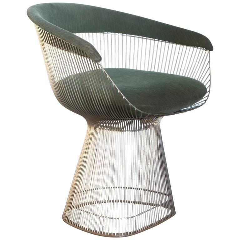 1966, Warren Platner For Knoll International, Side Chair In Green, Model  1725A For