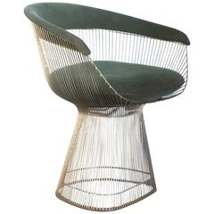 1966, Warren Platner for Knoll International, Side Chair in Green, Model 1725A