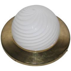 Big Elegant Ceiling Light VeArt Design 1970 Brass Gold