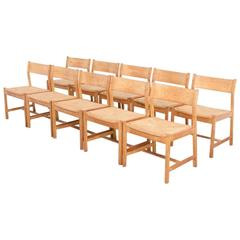 Set of Ten Dining Chairs by Borge Mogensen for C.M. Madsens Fabrikker, Denmark