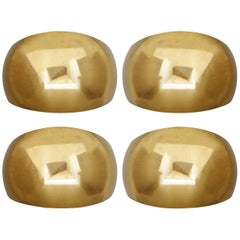 Five Large Sculptural Solid Brass Wall Lights Sconces by Florian Schulz