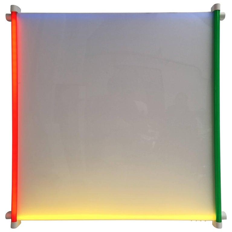 """Rare Light Object """"Outline"""" by Aldo van den Nieuwelaar for Nila Lighting, 1985 For Sale"""
