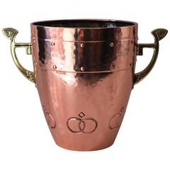 WMF Palm Pot Hammered Copper and Brass