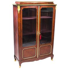 19th Century French Ormolu-Mounted Kingwood Display Cabinet