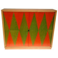 1980s Sycamore Tree Storage Cabinet