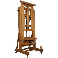 Large Oak Fully Adjustable Studio Easel by Windsor and Newton