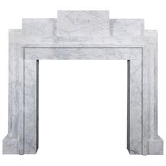 Art Deco Style Carrara Marble Mantel