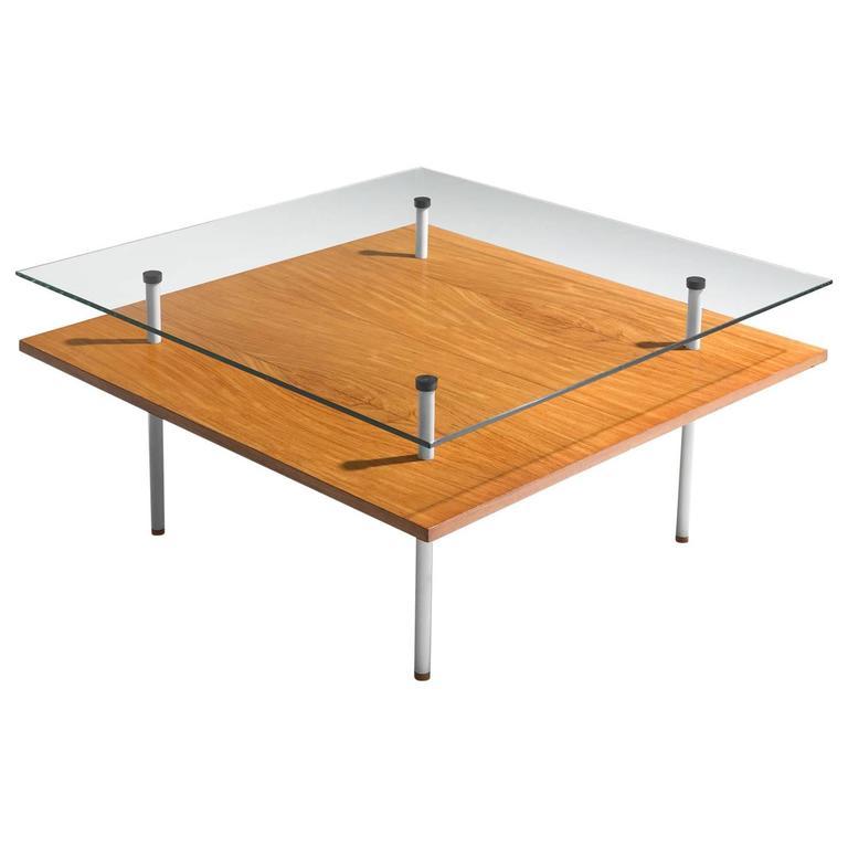 Elmar Berkovich Glass Coffee Table for Metz & Co