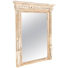 French Oak Bevelled Glass Overmantel Mirror