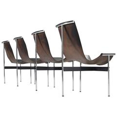Katalovos T Chairs in Original Black Leather