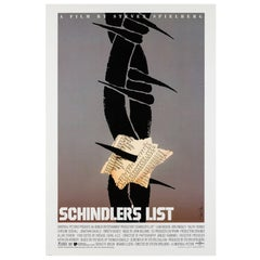 Schindler's List Original Us Film Poster, Saul Bass, 1993