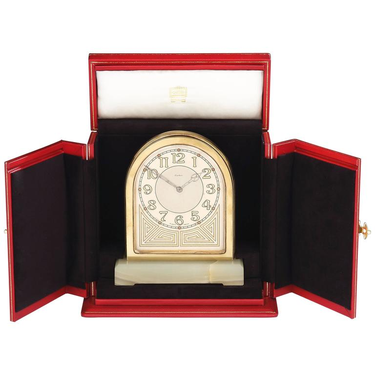 'Partners' Double-Sided Desk Clock by Cartier