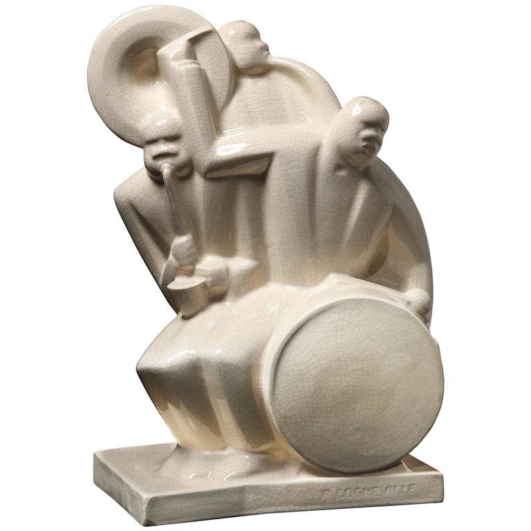 Art Deco Ceramic Jazz Band by Cogneville