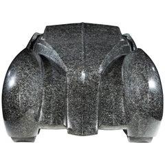 Unique Automobile Sculpture in Granite by Emmanuel Zurini, 1986