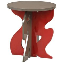 Guy de Rougement / Red and Grey / Side Table / In stock