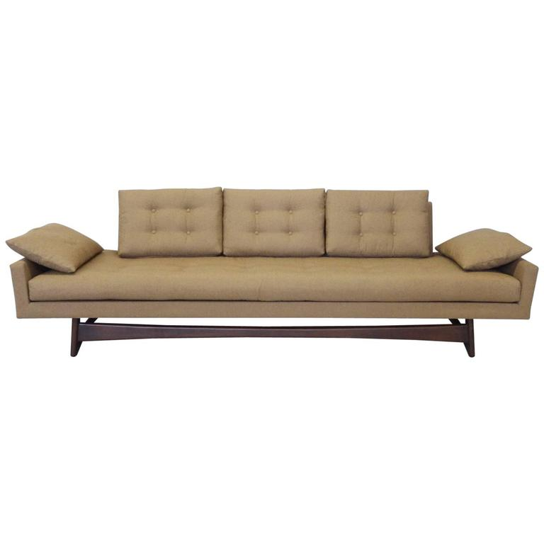 Adrian Pearsall Craft Associates Large Gondola Sofa For Sale