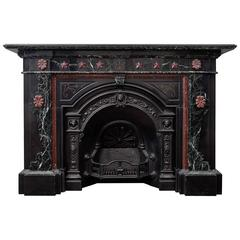 Victorian Marble Fireplace and Cast Iron Insert