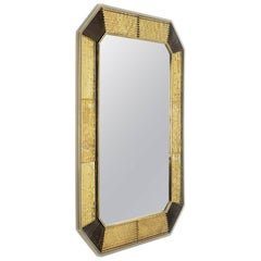 Retro Brass Mirror in Aged Brass Finish
