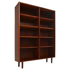 Danish Rosewood Open Bookcase by Poul Hundevad
