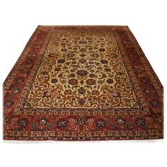 Old Persian Isfahan Carpet, of Superb Classic Design, Outstanding Color