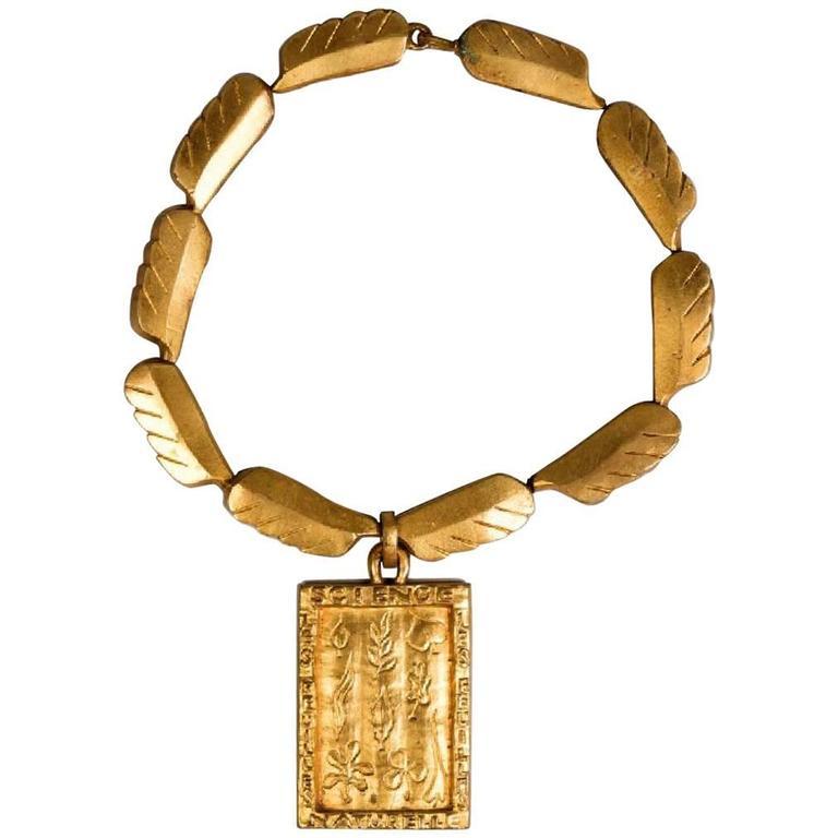 Gilt Bronze Necklace by Line Vautrin