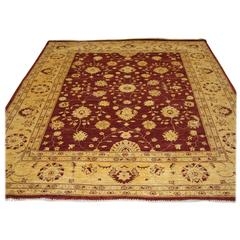 Hand-Knotted Afghan 'Ziegler' Design Rug with Superb Color