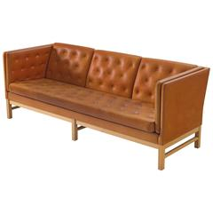 Erik Jørgensen Original Cognac Leather Sofa