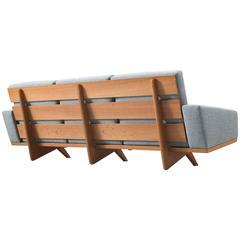 Gustav Thams Upholstered Danish Sofa in Oak