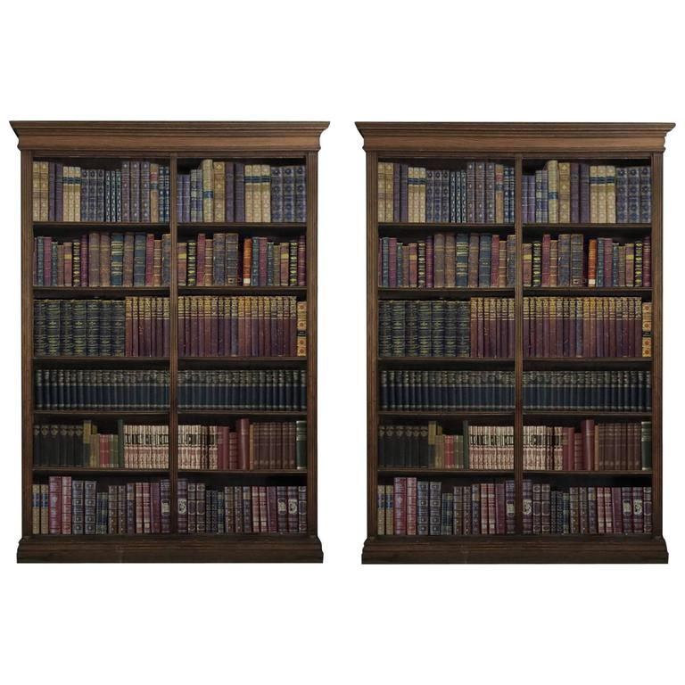 Pair of Late 19th Century Oak Bookcases