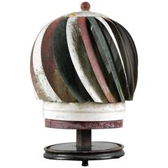 Spinning Roof Vent Finial, Patriotically Painted