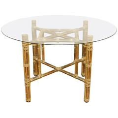 Organic Modern Reeded Bamboo Dining Table by McGuire