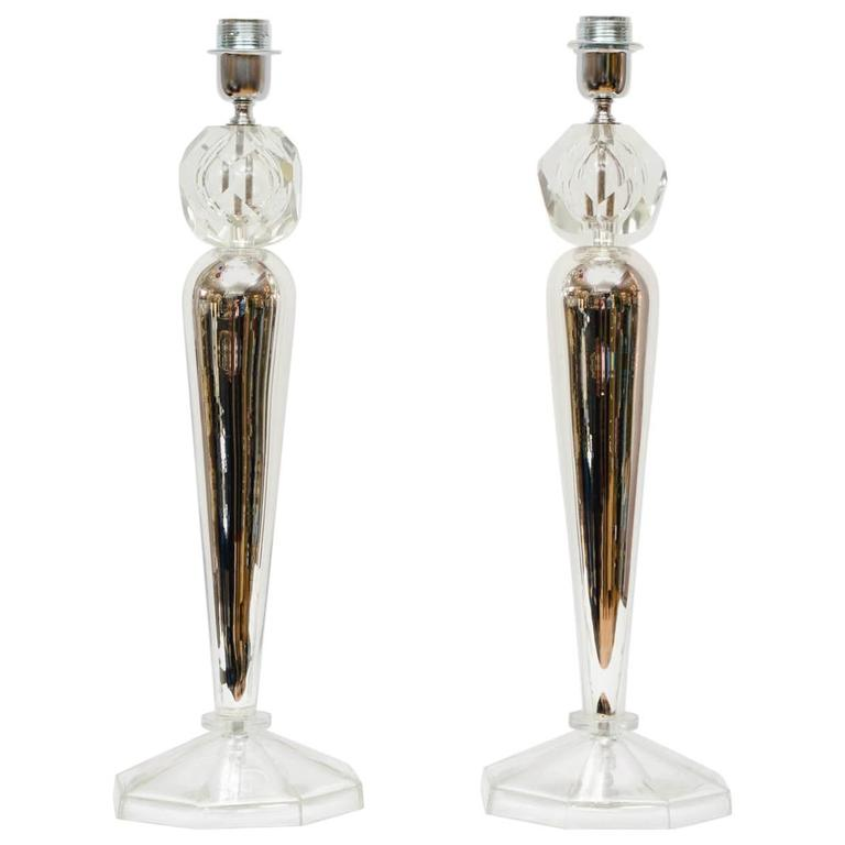 """Pair of Table Lamps in Murano Glass Signed """"Toso Murano"""""""