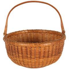 Open, Swing-Handle, Nantucket Lightship Sewing Basket