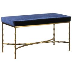 Bronze Bamboo Bench in the Style of Jansen
