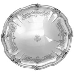 Henin Fabulous French All Sterling Silver Compote, Serving Dish, Tray Rococo