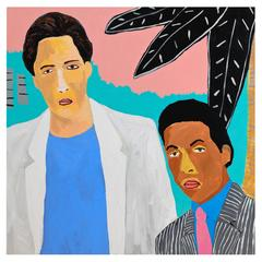'Crockett and Tubbs' Portrait Painting by Alan Fears Miami Vice