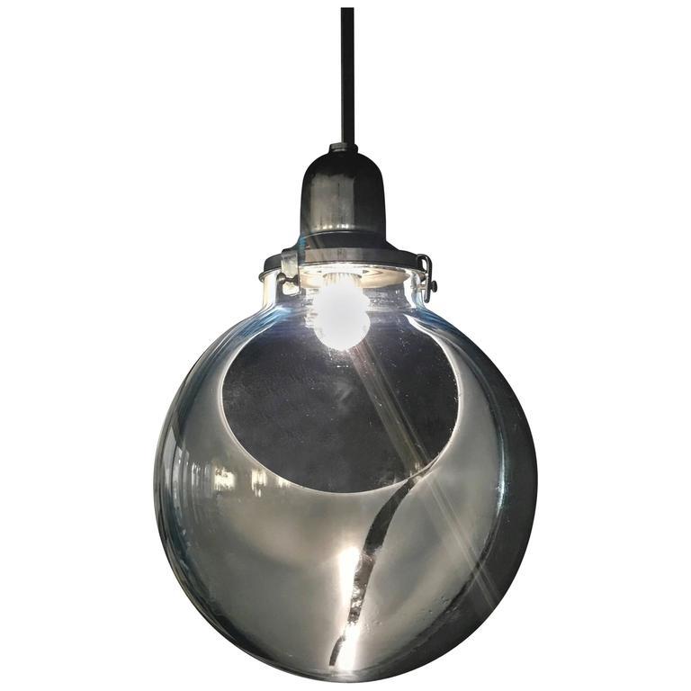 Large Space Pendant Lamp by Toni Zuccheri for Venini, circa 1960 in Murano Glass