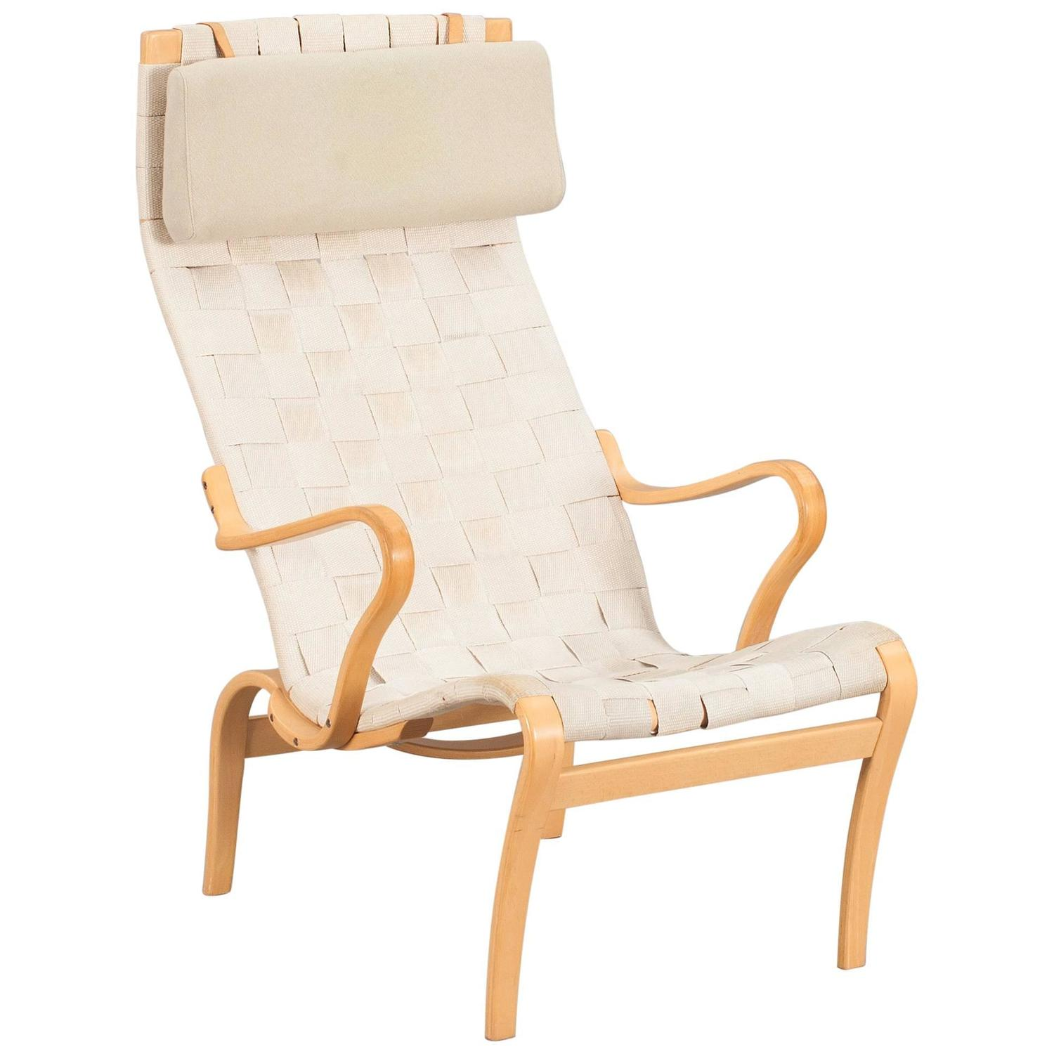 Easy Chair Model Mina High Back by Bruno Mathsson For Sale at 1stdibs