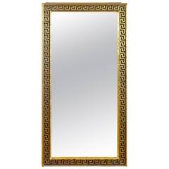 1960s Mid-Century Greek Key Gilded Mirror